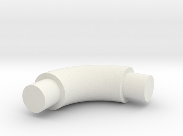 Elbow-4 in White Natural Versatile Plastic