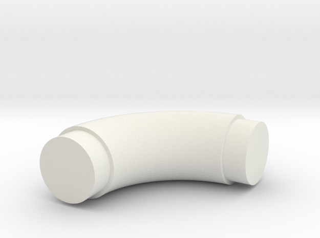 Elbow-9 in White Natural Versatile Plastic