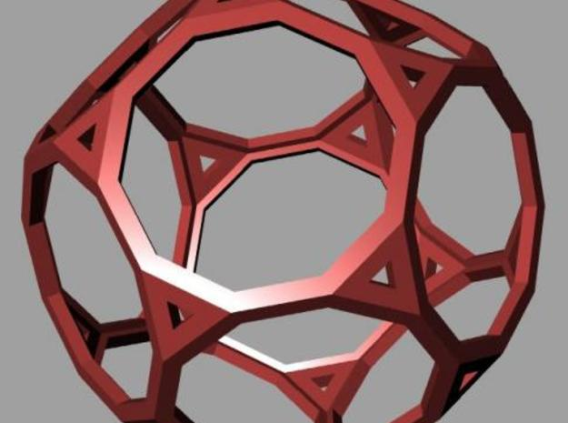 Truncated dodecahedron 3d printed Rendering
