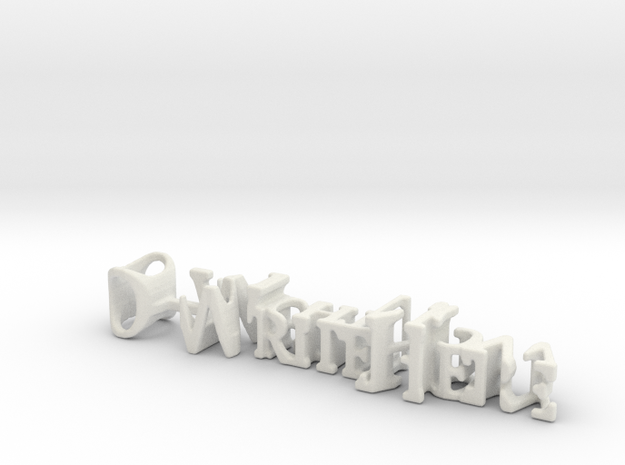 3dWordFlip: O-WriteHere/O-RightNow in White Natural Versatile Plastic