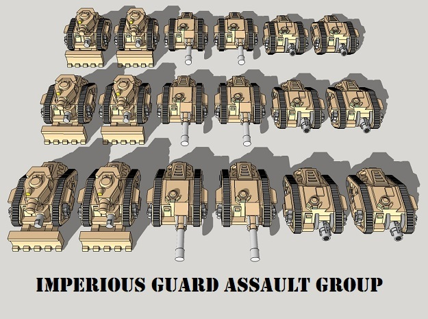 3mm Imperious Guard Assault Group (18pcs) in Frosted Ultra Detail