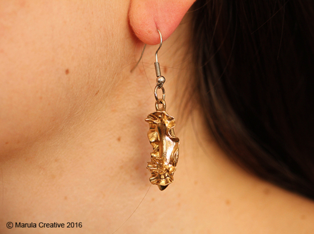 Becia the Nudibranch Earring in Natural Silver