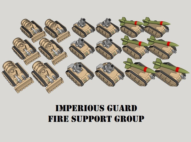 3mm IG Fire Support Group (18pcs)