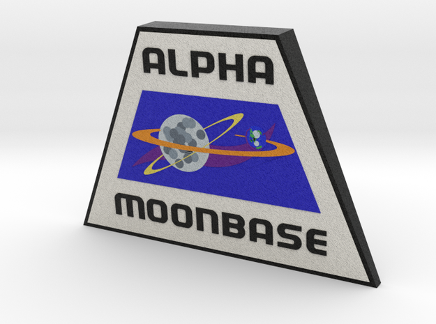 Moonbase Alpha Plaque (Space: 1999) = DESKAPADES = in Full Color Sandstone: Small