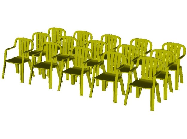 1/35 scale plastic chairs set x 15