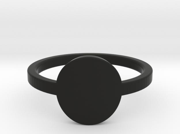 Small Circle Midi Ring in Black Natural Versatile Plastic