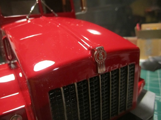 Fenders-Kenworth T800 3d printed Detail of T800 nose (RC builder with code name KAF343)