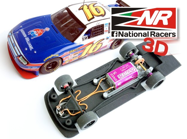 3D Chassis - SCX Ford FUSION 2008 (Combo) in Black Strong & Flexible
