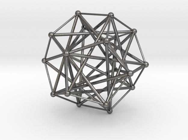Five Tetrahedra, Variation 1 in Polished Nickel Steel