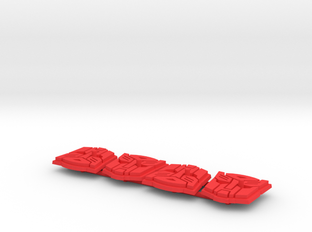 Titan Master Autobot Symbol Stands (4) in Red Strong & Flexible Polished