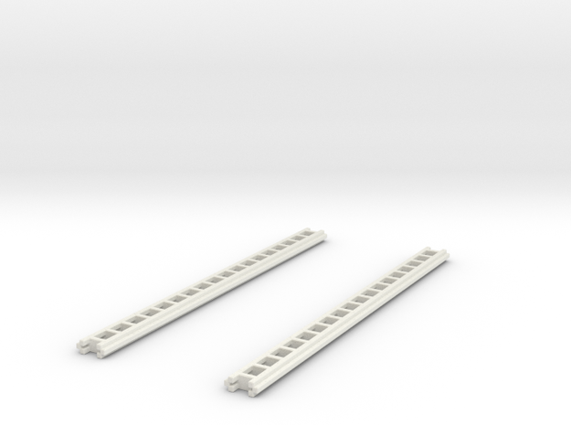 1/87 Crown Ground Ladders Set Of 2 in White Strong & Flexible