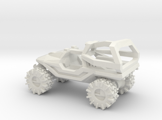 All-Terrain Vehicle with Roll Over Protection (ROP in White Strong & Flexible