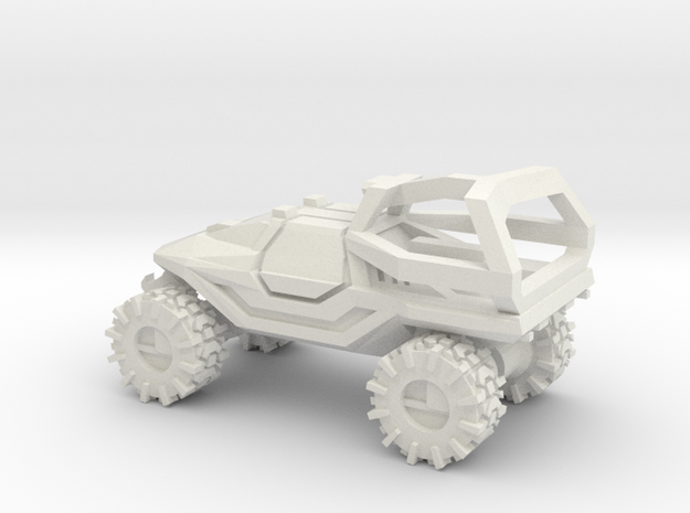 All-Terrain Vehicle closed cab with Roll Over Prot in White Strong & Flexible