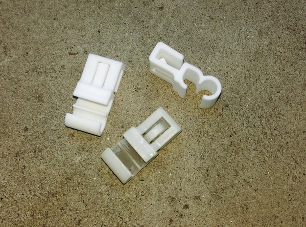 Lancia Delta Beta water pipe Clip in White Processed Versatile Plastic