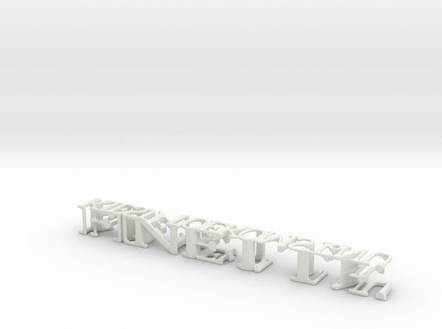 3dWordFlip: FINETTE/KIESJETOEKOMST.NU in White Natural Versatile Plastic