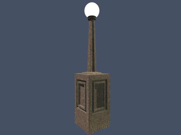 Concrete light post 1/32 3d printed 1/32 Lightpost for concrete railing set.  Globe available separately.