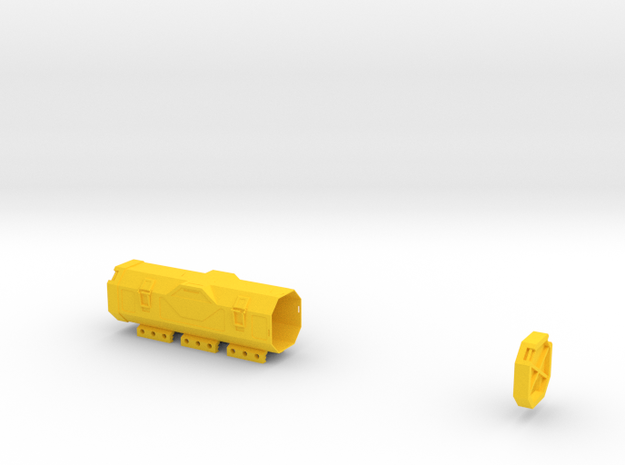 Zylon Battery Box in Yellow Strong & Flexible Polished