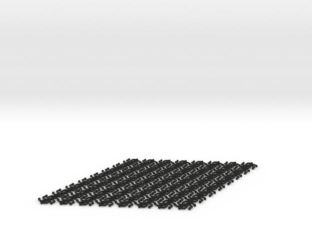 Hex Mat in Black Natural Versatile Plastic