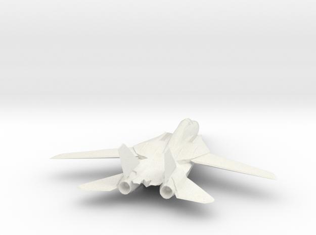 F14 Tomcat Model in White Natural Versatile Plastic