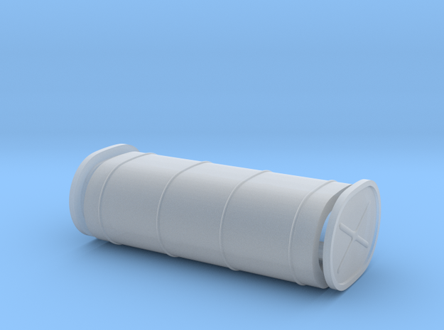 Oblong Hot Rod fuel tank, plain in Smooth Fine Detail Plastic