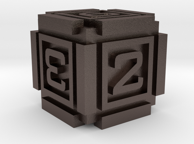 Cubic D6 - 16mm die in Polished Bronzed Silver Steel
