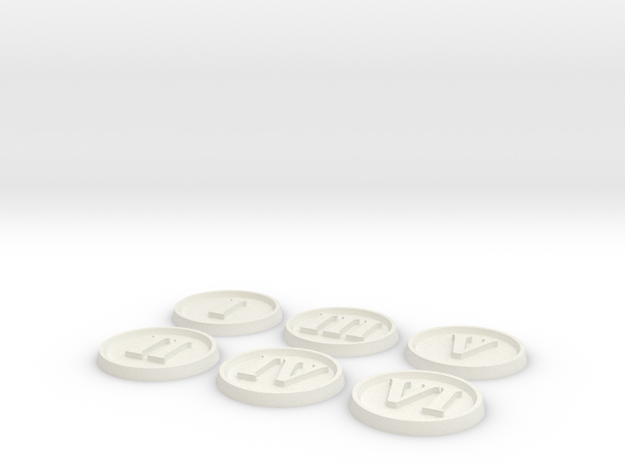 Objective Markers - Numerals in White Strong & Flexible