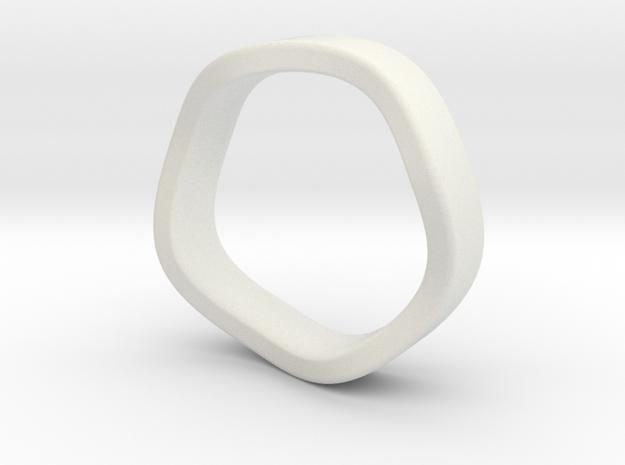 K 7.2mm Flat Band in White Natural Versatile Plastic