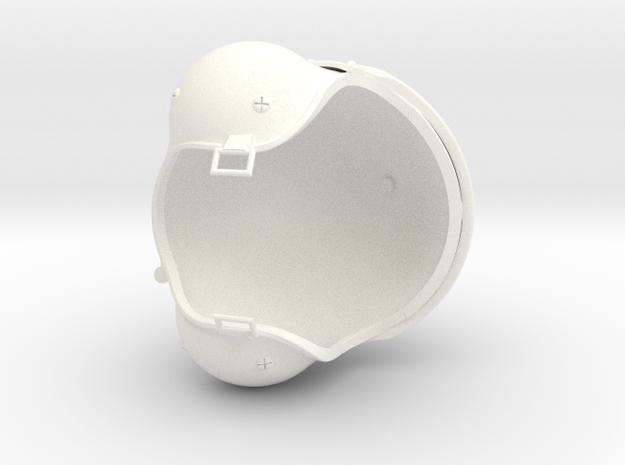 1.5 CASQUE PILOTE COBRA (PART 2) in White Processed Versatile Plastic