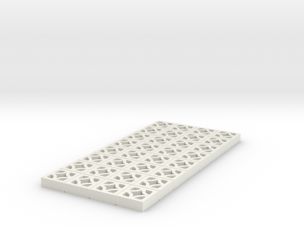 1/25 Breezeblock B 4x8 panel in White Strong & Flexible