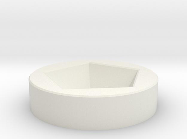 D12 Socket in White Natural Versatile Plastic