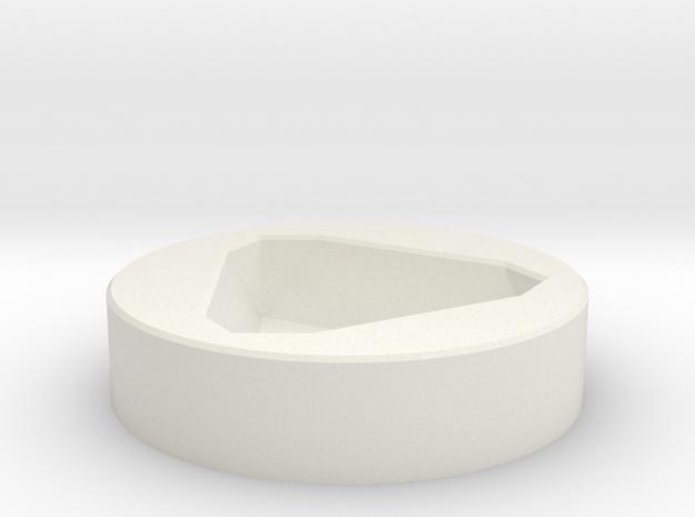 D8 Socket in White Natural Versatile Plastic
