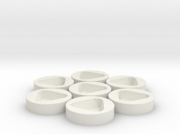 7x D8 Socket in White Strong & Flexible