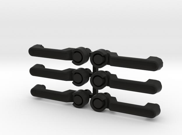 AJ10058 JK Door Handles Set of 6 in Black Strong & Flexible