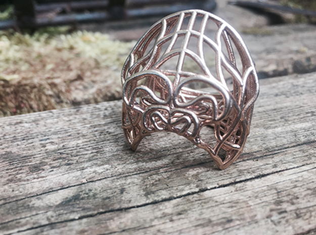 APE ring in Raw Bronze: 10.75 / 63.375