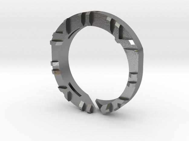 Trinity Ring MI in Raw Silver