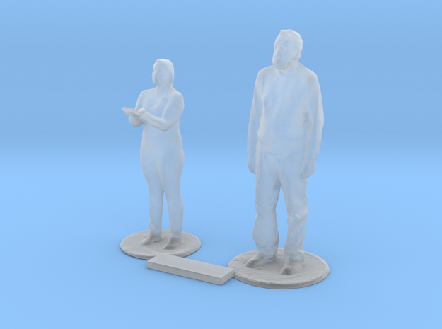 S Scale Standing People 7 in Smooth Fine Detail Plastic