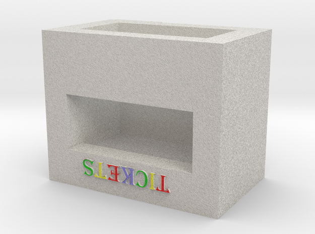 N Scale Carnival/Circus Ticket Booth in Full Color Sandstone