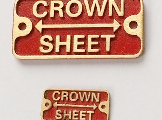 """3/4"""" scale crown sheet plate in Natural Bronze"""