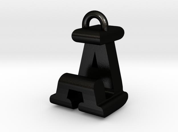 3D-Initial-AJ in Matte Black Steel