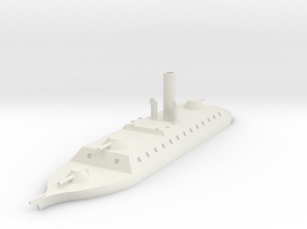 1/700 Sondor River Cruiser, Rectangular Casemate in White Natural Versatile Plastic