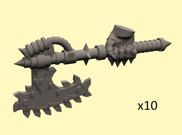 28mm Chain axe with evil hand (right)