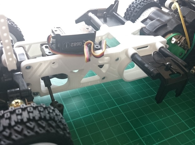 Tamiya M04 - M04S (210mm Wheelbase) chassis - L in Red Processed Versatile Plastic