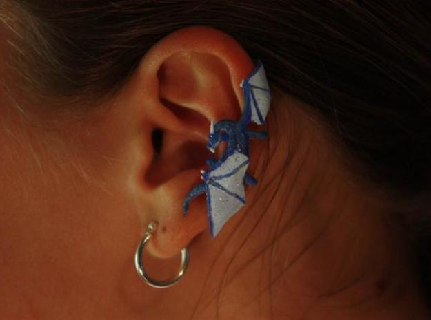 Dragon Cuff Earring Right 3d printed Painted WSF