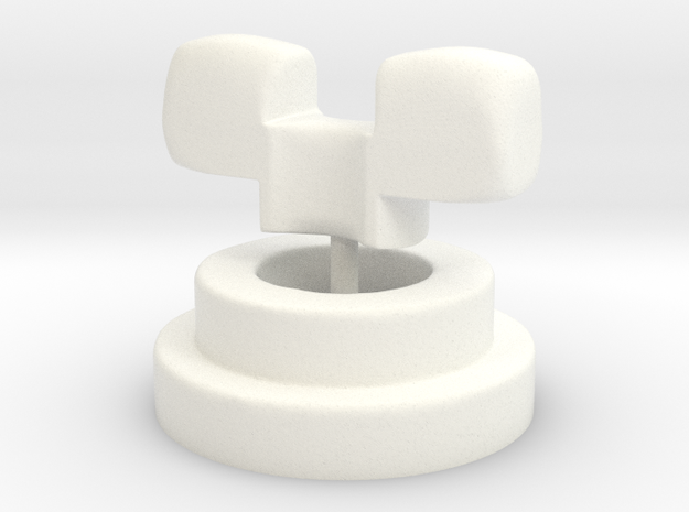Luts Neck Adapter MSD Size NOW TESTED! in White Processed Versatile Plastic