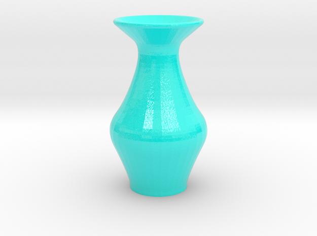 Miniature Teal Vase