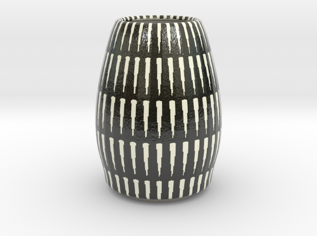 Miniature Black and White Vase
