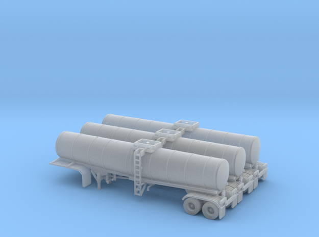 N scale 1/160 Crude oil trailer, Brenner 210 x3 in Smooth Fine Detail Plastic