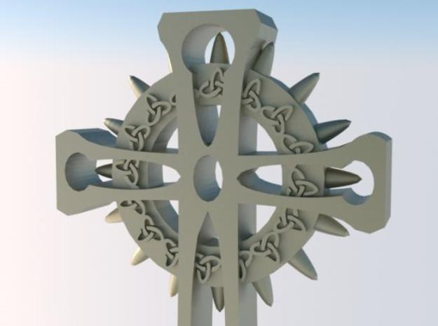 Celtic Cross 3d printed Rendered view 2  - detail