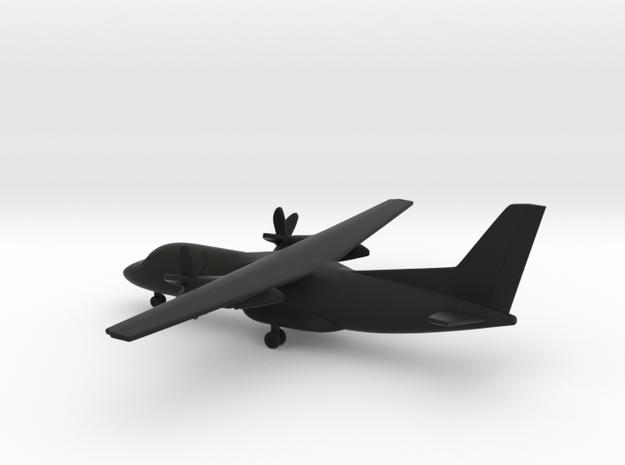 Antonov An-140-100 in Black Natural Versatile Plastic: 6mm