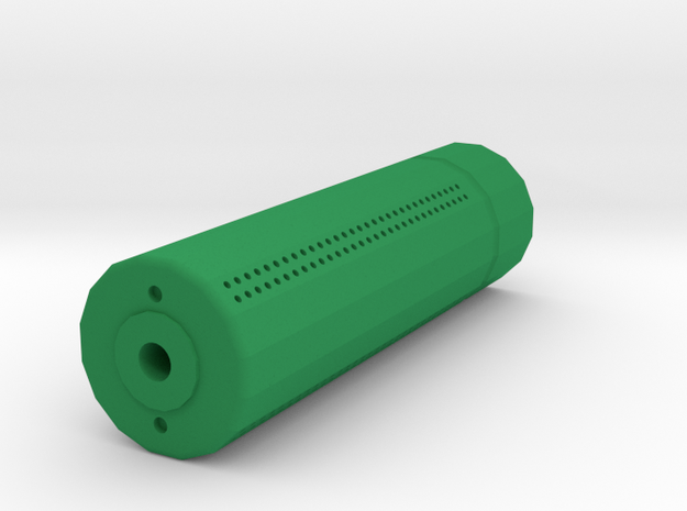 Sydex Airsoft Silencer (14mm Self-Cutting Thread) in Green Strong & Flexible Polished